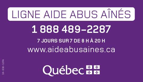 Ligne Abus Aînés 1 888 489-2287