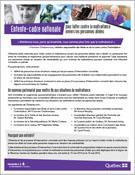 Entente-cadre nationale pour lutter contre la maltraitance envers les personnes aînées et la mise en place de processus d'intervention concertés
