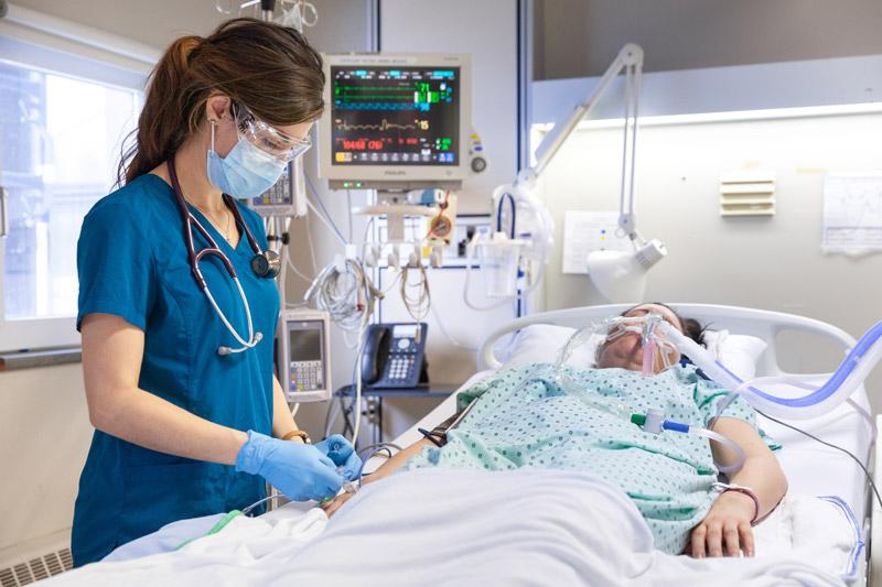 Camille avec un patient